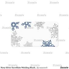 Blank Address Labels For Wedding Invitations Navy Silver