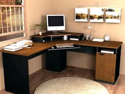 wood desks for home office. Long Desk For Two Small Light Wood Computer In Home  Office Table Corner With Drawers Furniture Wood Desks For Home Office
