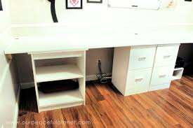 large home office desk. Build A Large Surface Home Office Desk From Inexpensive 3/4\