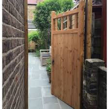 wooden garden gate from our baywood collection constructed from slow grown redwood pine and manufactured using traditional time served techniques such