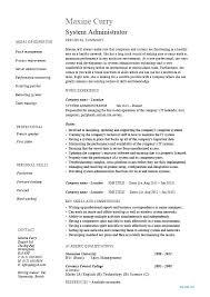 Network Administrator Resume Samples Simple Sample Resume For Windows System Administrator Fresher Best Ideas Of