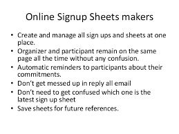 Create Sign Up Sheet Easiest Way To Create Sign Up Sheets Online And Take Volunteers Parti