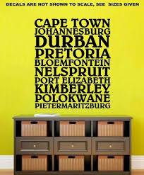 sale cities of south africa wall art sticker vinyl decal various sizes on vinyl wall art stickers durban with vinyl lady decals za buy your top quality vinyl decals here