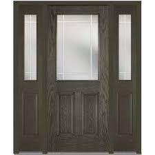 front door with sidelitesSingle door with Sidelites  Fiberglass Doors  Front Doors  The