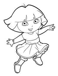 Dora Explorer Coloring Pages Contentparkco