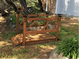 25 wooden garden bridge plan
