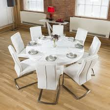 round white dining table. Wonderful Design Ideas Large White Dining Table Round Gloss Lazy Susan 8 Chairs I