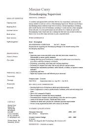 Cleaner Resume Template Housekeeping Supervisor Resume Window