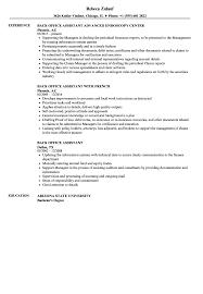 Office Job Resume Examples Back Office Assistant Resume Samples Velvet Jobs 98