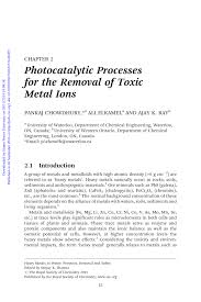 PDF) Heavy Metals In Water : Presence, Removal and Safety; CHAPTER 2 ...