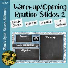 Warm Up And Opening Routine Slides With 5 Minute Timer Tpt