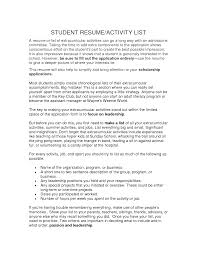 Resume Activities Examples Extraordinary In Resume Extracurricular Activities About Resume 19