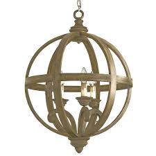 axel orb chandelier small by currey company