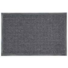 charcoal 23 5 in x 35 5 in rubber commercial door mat