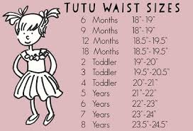 Tutu Measurement Chart Updated How To Do Tutu Toddlers And Infants Size Chart And