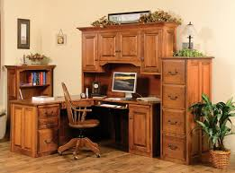 executive corner desk hutch