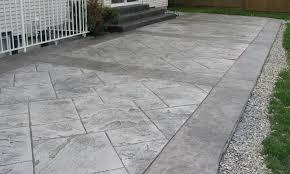 stamped concrete patio idea