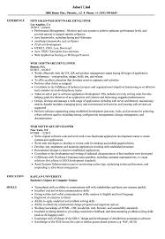 Software Developer Resume Samples Web Software Developer Resume Samples Velvet Jobs