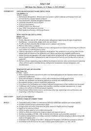 Web Software Developer Resume Samples Velvet Jobs