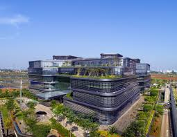 green office building. It Is Located In The BSD Green Office Park, Country\u0027s First District Which Was Also Materplanned By Aedas. Building