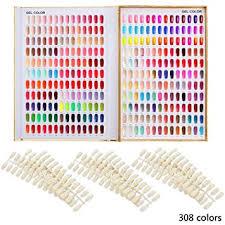 Makartt 308 Poly Nail Gel Color Chart Display Book Golden Nail Polish Uv Gel Color Display Nail Salon Tools A 13
