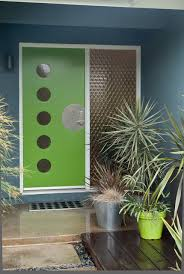 mid century front doorColorful Mid Century Modern Residence  Midcentury  Entry  Other