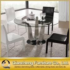 stainless steel kitchen table and chairs. Tempered Glass Dining Table, Table Suppliers And Manufacturers At Alibaba.com Stainless Steel Kitchen Chairs C