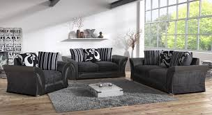 fabric sofa set 3 2 1. Wonderful Sofa FARROW LEATHER U0026 FABRIC 32 SEATER SOFA  ARMCHAIR IN BLACK  In Fabric Sofa Set 3 2 1 O