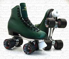 dominion 66 green microfiber suede leather size 8 las rink roller skate