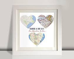 3 heart maps framed art 3 personalised heart maps