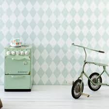 Ferm Living Harlequin Behang Mint Ilovebehangnl