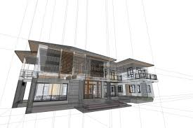 modern architecture drawing. Download Architecture Drawing Modern House 3d Illustration Stock - Of Illustration, Engineering: S