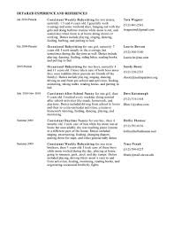 Sample Babysitting Resume Activity Assistant Sample Resume Mind