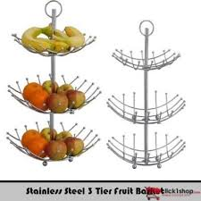Stainless Steel 3 Tier Fruit Basket
