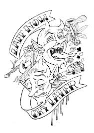 Small Picture Bold Design Tattoo Coloring Pages Tattoo Coloring Page Cecilymae