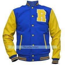 Riverdale Kj Apa Archie Andrews Jacket R Letterman Blue Bomber Varsity Jacket Ebay
