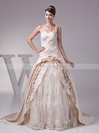 embroidered wedding dress. Single Strap Satin and Tulle Embroidered Wedding Dress