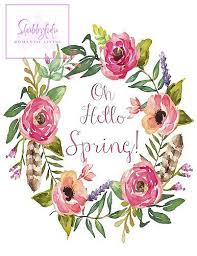 Free Spring Printable Wreath Pinterest Wreaths Spring And Free
