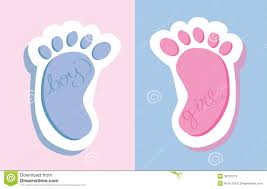 Boy Or Girl Baby Announcement Baby Feet Stock Vector Illustration Of Gray Greeting