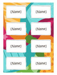 Avery 5395 Template For Word Name Badge Template Name Badges Bright Design 8 Per Page Works With