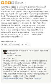 restaurant review examples help with yelp for business responding to negative reviews