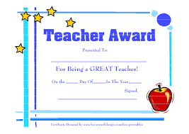 Best Teacher Award Template Free Award Templates For Teachers Under Fontanacountryinn Com