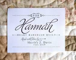 Personalized Quilt Label Quilt Patch Custom Fabric Label & ð???zoom Adamdwight.com