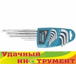 <b>Набор ключей имбусовых Gross</b> Torx-TT, T10-T50 (9шт) 16408 ...