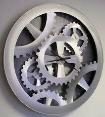 silver gears wall clock 39 by nova