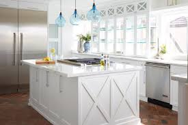 contemporary glass pendant lights kitchen beach style with f