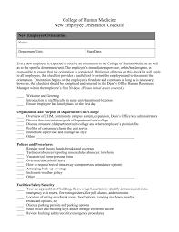 Staff Orientation Checklist New Employee Orientation Checklist