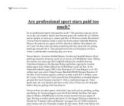 are professional sport stars paid too much university document image preview