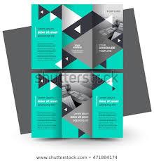 Business Brochure Design Template Creative Trifold Stock Vector