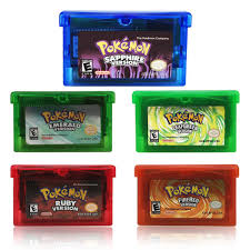 32 Bit Video Game Cartridge Console Card Pokemon Series  Emerald/Sapphire/Ruby/Leaf Green/Fire Red English Language US Version Game  Collection Cards